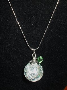 Shattered Marble Pendant on Etsy, $8.00