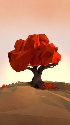Video Game Graphic Landscapes - Low-Poly Scenery Shows a Geometric Resolution Version of the World (GALLERY)