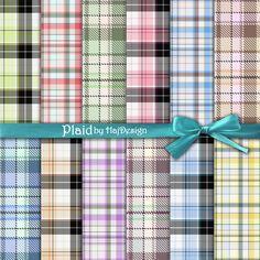 PLAID  Instant Download Digital Paper Printable by HajDesignPapers