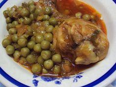 Cristina's world: Mancarica de mazare cu pui My Favorite Food, Favorite Recipes, Romanian Food, Black Eyed Peas, Chana Masala, Beans, Food And Drink, Vegetables, Live