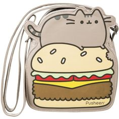 Pusheen Cross Body Bag ($29) ❤ liked on Polyvore featuring bags, handbags, shoulder bags, cross body, backpack purse, crossbody shoulder bags, back pack purse and back pack handbags