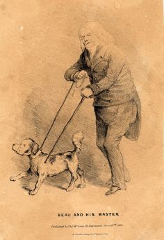 'Beau and his master' © The Trustees of the British Museum