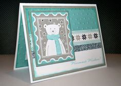 Hand made Christmas Card featuring Close to my Heart Snowhaven paper and Home for the Holidays stamp set