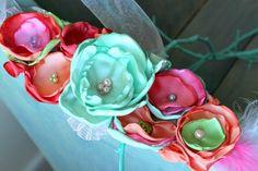 Bridal Sash, Maternity Sash, Wedding Sash, Photo Prop, Flower Girl Sash, Pregnancy Photo Prop in Coral, Green, Pink with Feathers