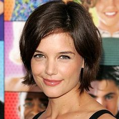 Katie Holmes chin length bob hairstyle