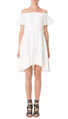 Sakura Fil Coupe Off-the-Shoulder Dress // Tibi