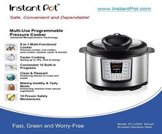 Instant Pot IP-LUX50 6-in-1 Pressure Cooker Review tells you about the features and benefits of this pressure cooker. You can cook and do pressure canning.