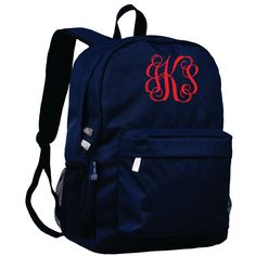 Monogram Backpack and Lunch Bag Set - Wildkin - Personalized - Whale Blue - Back to School Crackerjack by DesignsbyDaffy on Etsy