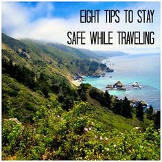~Eight ways to stay safe while travelling~ Tip No.1 Use chip credit cards Tip No.2 Use a neck/waist wallet  Tip No.3 Use RFID Jamming Technology Tip No.4 Use Travel Locks Tip No.5 Know Your Destination/Tell People Where You Are Going Tip No.6 Pack a day pack Tip No.7 Hotel safety Tip No.8 Be Aware of Scam Artists From: http://www.alittlebiteoflife.net/eight-tips-to-keep-safe-while-traveling/