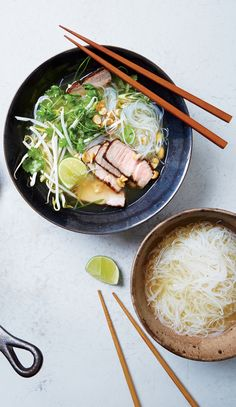 No laboring over the stove required to pull off this quick and easy weeknight dinner version of pork pho.