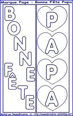 Coloriage bonne fete papa avec coeurs d 39 amour imprimer f te des p res en maternelle ps ms gs - Coloriage bonne fete papa a imprimer ...