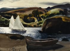 Millard Sheets (American, 1907-1989) Hidden bay 22 x 30in overall: 31 x 39in (Painted in 1935)