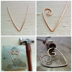 Art Bead Scene Blog: Tutorial Tuesday - Wire Heart Pendant