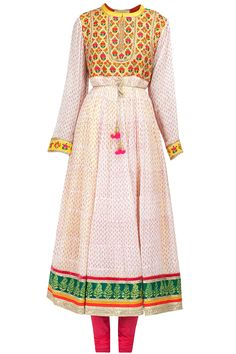 Ivory printed embroidered kalidaar kurta set BY SHYAM NARAYAN PRASAD ON SALE UPTO 70%OFF. Shop now at: http://www.perniaspopupshop.com/ #perniaspopupshop #ivoryprinted #embroidered #kalidaarkurta #beautiful #sale #deals #discounts #2014 #label #love #designer #ShyamNarayanPrasad #happyshopping