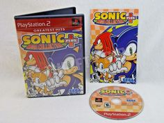 PS2 Sonic Mega Collection + Plus 2004 Greatest Hit Edition Sony PlayStation 2 #Sega