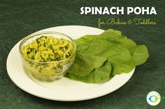 Spinach Poha for Babies and Toddlers