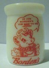 Bordens Dairy 3/4 oz Milk Glass Creamer Bottle