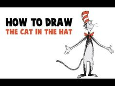 How to Draw The Cat in the Hat in Easy Step by Step Drawing Tutorial | How to Draw Dat