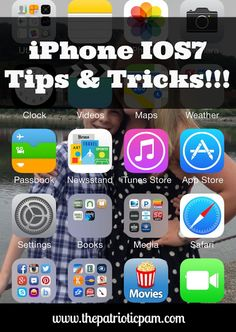 The Patriotic Pam...: Apple iPhone IOS7 Tips and Tricks.....(Note from Pinner: Check This Out if you've updated your iPhone!!)