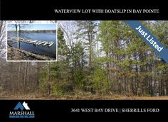 3641 West Bay Drive Great waterview building lot with private boatslip on Lake Norman.