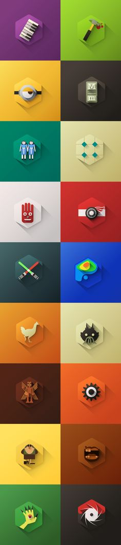 Flat Design by Rodrigo Gafa, via Behance