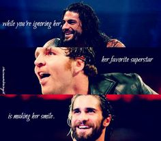 The Shield ❤ I love this! They always make me smile, especially Seth!