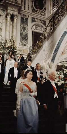 Queen Elizabeth II In Germany I presume visiting some of her cousins etc..Prince Phillip always has been such a support and knows just where to stand.