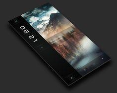 Mobile Ui Design, Ui Ux Design, Graphic Design, Web Layout, Layout Design, Concept Phones, Android Theme, Futuristic Technology, User Interface Design