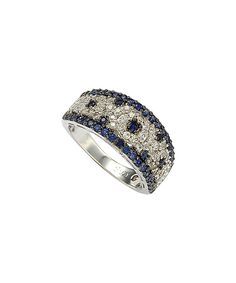 This Sapphire & Diamond Abstract Anniversary Ring by Suzy Levian is perfect! #zulilyfinds