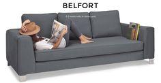 Charcoal grey 3 seater sofa