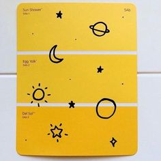 Yellow and planet doodles are my two fave things Chiara Bautista, Aesthetic Colors, Aesthetic Yellow, Makeup Aesthetic, Aesthetic Painting, Aesthetic Pictures, Happy Colors, Mellow Yellow, Mustard Yellow