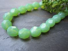 Jade Opal Faceted Firepolished 6mm Beads
