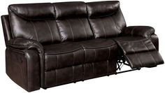 Furniture of America Karlee Reclining Furniture, Dark Brown Leather Reclining Loveseat, Leather Recliner, Silver Sofa, Sleeper Sectional, Red Sofa, Modern Rustic Interiors, Sofas, Couch, America