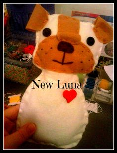 (One of the first things I made) Dog plush