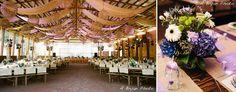 "Table ""V"" set up that leaves room for the dance floor."