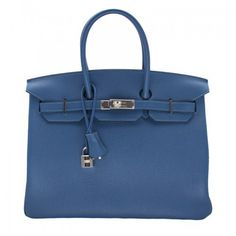 This highly desirable Thalassa blue Birkin has Hermes lovers clamouring to get on the waiting list. You can skip that queue now because this particular beauty is brand new and available here at Rewind! This authentic Hermes Birkin is in pristine condition, never worn, with all its original protective ware still intact. This particular Birkin is in Clemence leather with palladium barrier in a fabulous blue that is perfect for the new season.