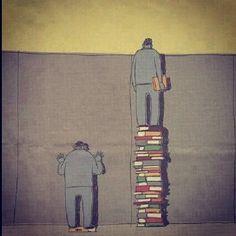 Porque la lectura nos hace llegar más lejos y poder ver más allá...  ¡Preciosa imagen!