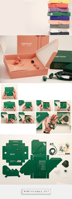 Urbanears Packaging on Behance by Hanna Bossmark curated by Packaging Diva PD. Who wants to volunteer to fold this earphone packaging : ) created via https://www.behance.net/gallery/23050893/Urbanears-Packaging