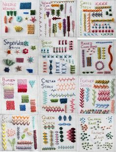Many other types of Hand embroidery stitches