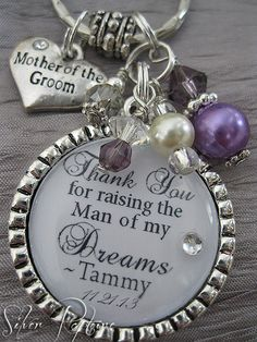 Mother of the Groom Gift Personalized KeyChain by SilverRapture, $24.00 - This would be so cute!