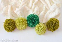 Ombre Pom Pom Throw vintagerevivals.com
