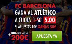 el forero jrvm y todos los bonos de deportes: Sportium Barcelona vs Atlético Supercuota nuevos u...