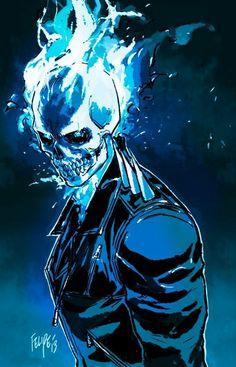 Ghost Rider, Danny Ketch, Johnny Blaze, Spirit of Vengeance, Felipe Smith Comic Book Characters, Marvel Characters, Comic Character, Comic Books Art, Comic Art, Book Art, Marvel Art, Marvel Dc Comics, Marvel Heroes