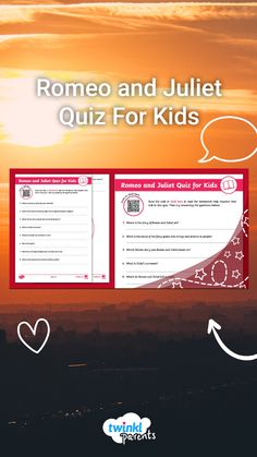 Romeo and Juliet is a famous play written by William Shakespeare. Need help with English homework topics? Your children can scan the QR code to find out all about the Romeo and Juliet and then test their learning with a quiz. Follow the link to try this engaging quiz today!