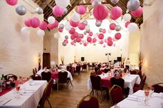 Pink Wedding Ideas White And Silver Lanterns Decorate This Great Venue