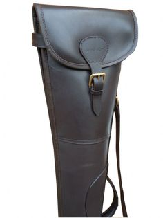 John Shooter Rigid Leather Shotgun - Havana Vegetable Tanned Leather Thick Wool Flock Lining Suitable for Over and Under Side by Side Guns Nylon Rot