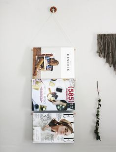 DIY Copper Magazine Rack