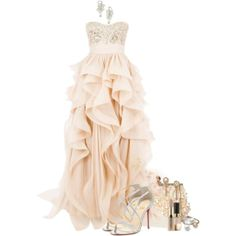 """""""Blush"""" by ritadolce on Polyvore Prom Dresses, Formal Dresses, Complete Outfits, Style Me, Blush, Peach, Gowns, Womens Fashion, Pretty"""