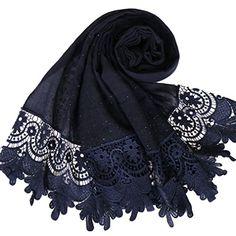 Les filles musulmanes Hijab Islamique foulard Verre Design Travail hijab écharpe Wrap UK p/&p