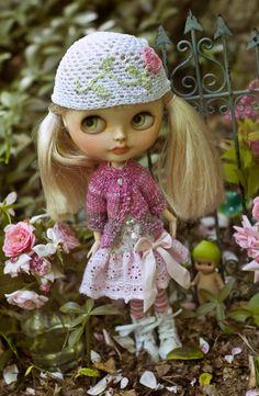 Sweet Darlin. Garden Dress Knitted Sweater by SugarMountainArt